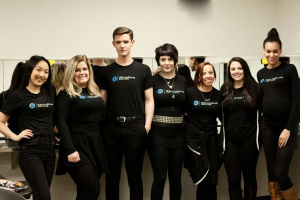 Group of Jean Madeline Aveda Institute students wearing black tshirts