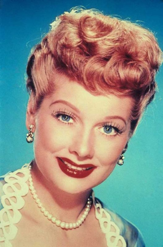lucille ball tv legend portrait