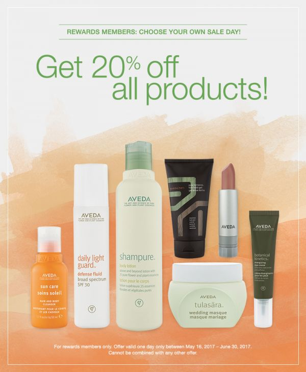 Aveda products sale offer