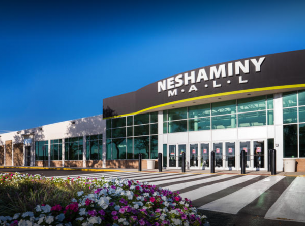 exterior shot of neshaminy mall