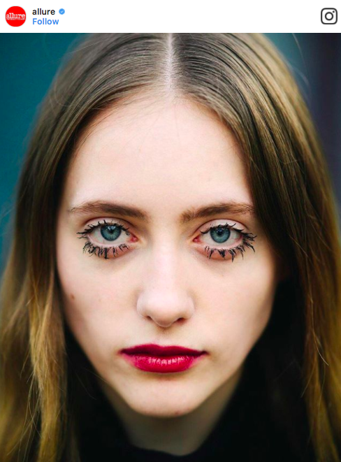 model with large lower lashes